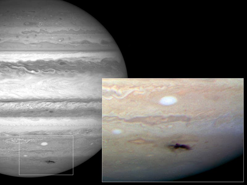 Hubble-Aufnahme des Jupitereinschlags 2009