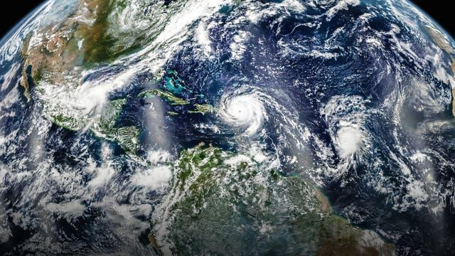 Hurrikane Katia, Irma und Jose im Atlantik
