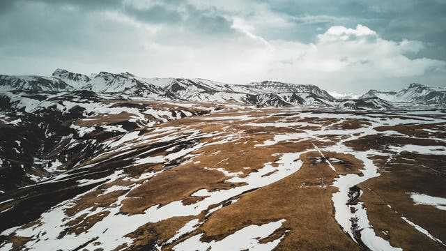 Arktische Landschaft in Island