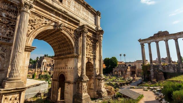 Blick auf das Forum Romanum in Rom