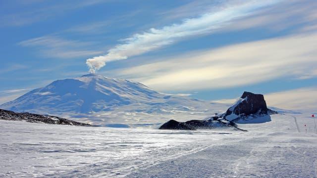 Der südlichste aktive Vulkan der Erde: Mount Erebus