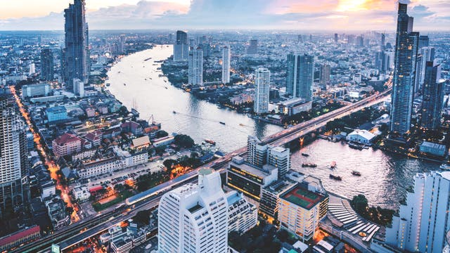 Blick auf Bangkok