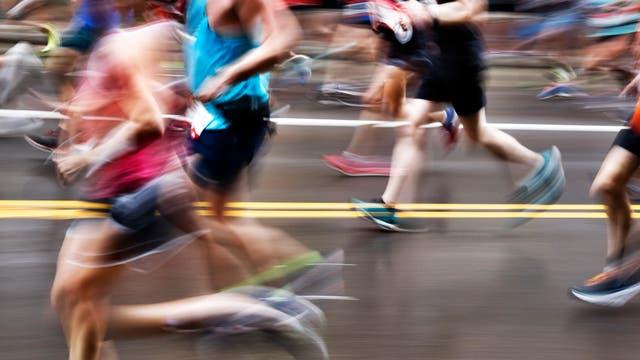 Marathonläufer in Bewegung
