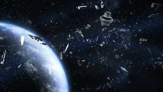 Diverser Weltraumschrott kreist um die Erde, wie diese Simulation verdeutlicht.