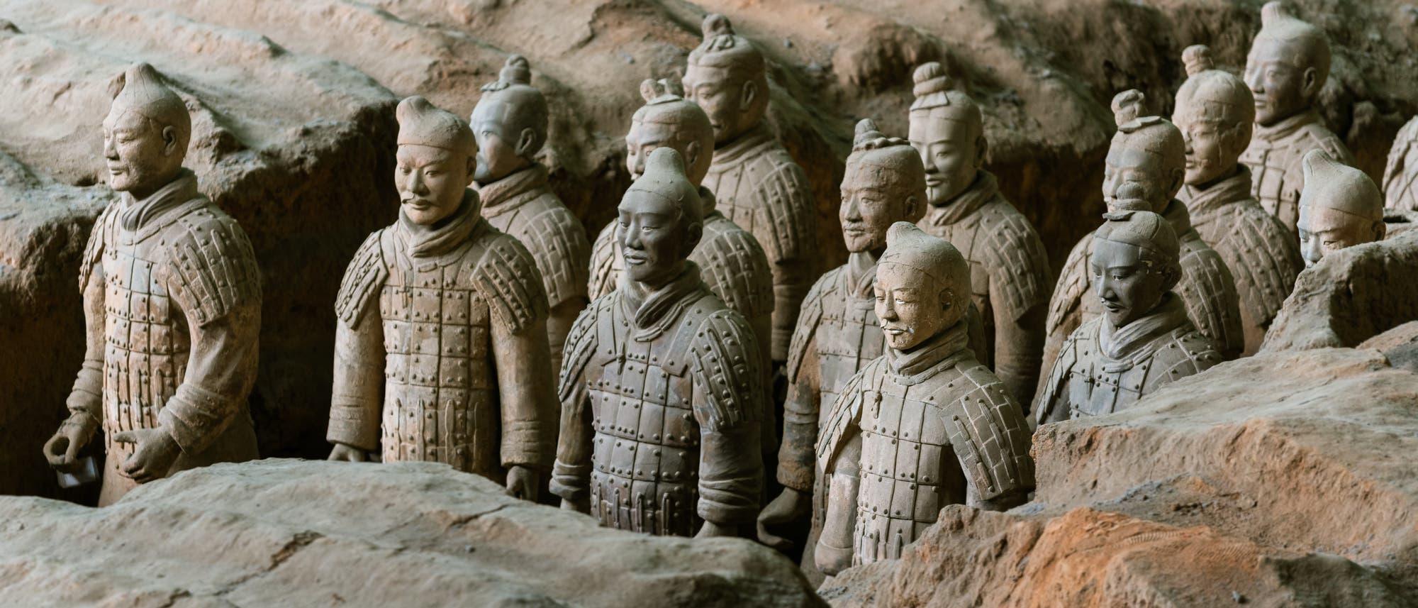 Terrakotta-Armee im Grab des ersten Kaisers von China