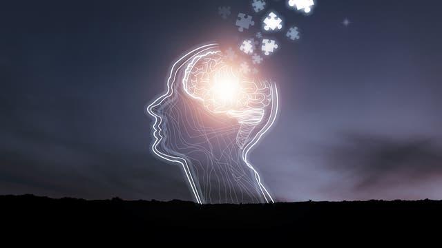 Zerfallendes Gehirn