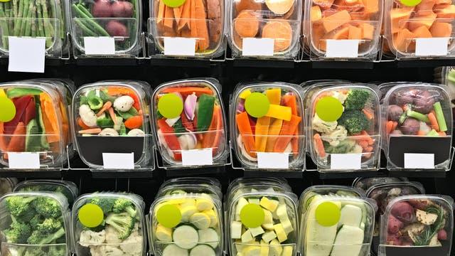 Plastikverpackungen für geschnittenes Gemüse