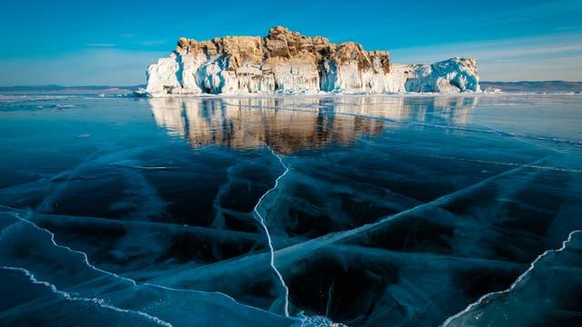 Zugefrorener Baikalsee