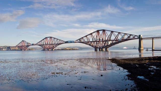 Selten schönes Exemplar:: Die Forth-Eisenbahnbrücke