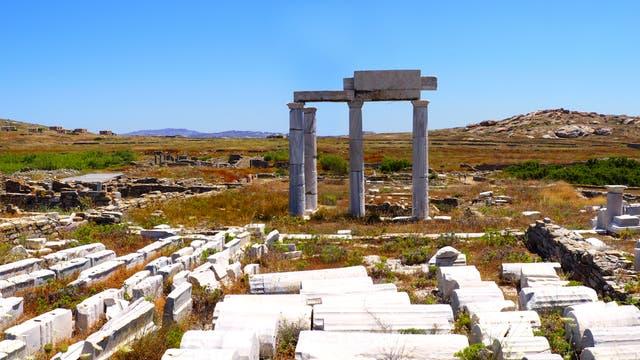 Überreste des Apollotempels auf Delos