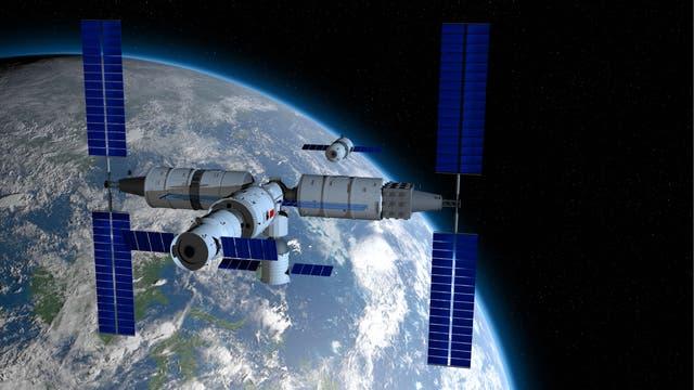 Raumstation Tiangong-3 (Illustration)