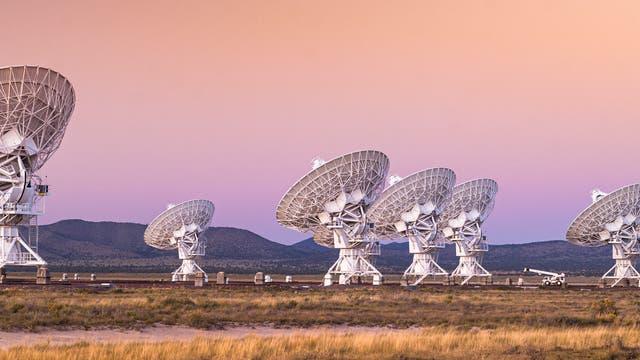 Radioteleskope in New Mexico. Was wäre, wenn sie das Signal einer extraterrestrischen Lebensform auffingen?