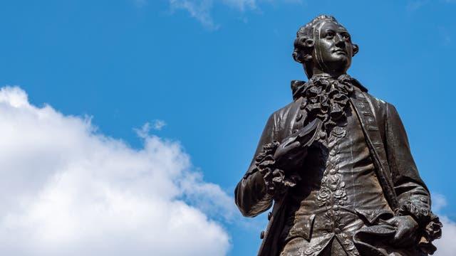 Goethe-Statue in Leipzig.