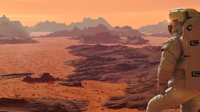 Astronaut auf dem Mars (Ausschnitt)