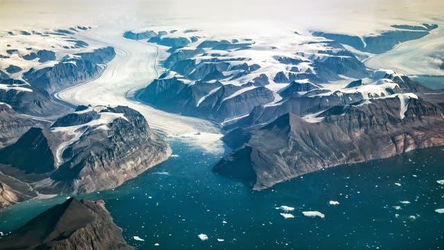Eine Gletscherzunge im Westen Grönlands