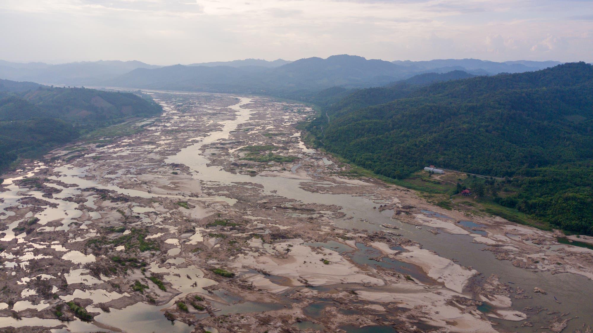Der Mekong zwischen Thailand und Laos im Oktober 2019