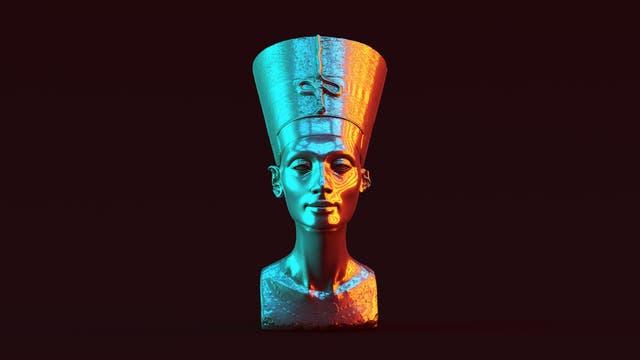 Eine Büste der ägyptischen Königin Nofretete.