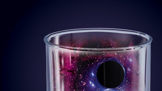 Wurmloch im Reagenzglas