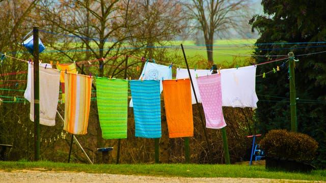 Handtücher auf der Leine