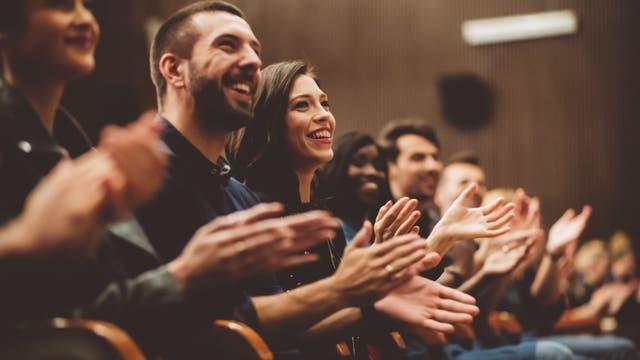 Lachendes Publikum