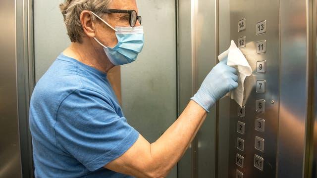 Hygiene im Fahrstuhl