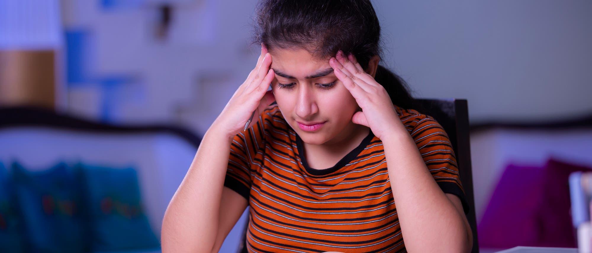 Kopfschmerzen in der Schule