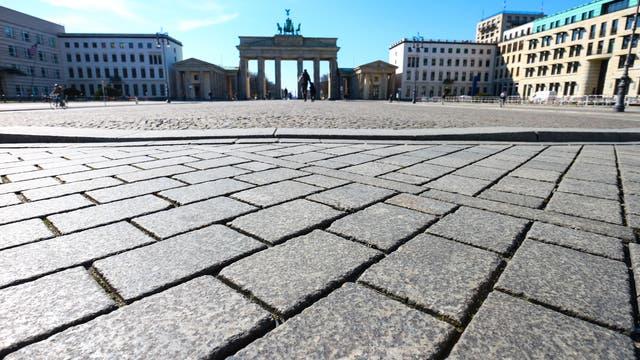 Brandenburger Tor im Lockdown
