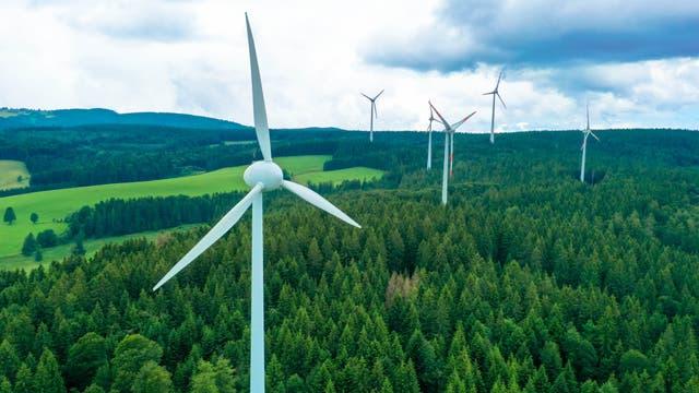 Windkraftanlagen im Schwarzwald