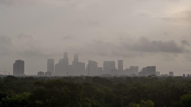 Staub über Houston
