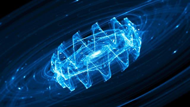Künstlerische Darstellung von Gravitationswellen. Leider in fast jeder Hinsicht falsch.