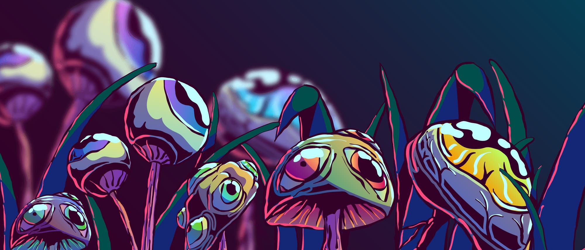 Pilze mit Augen