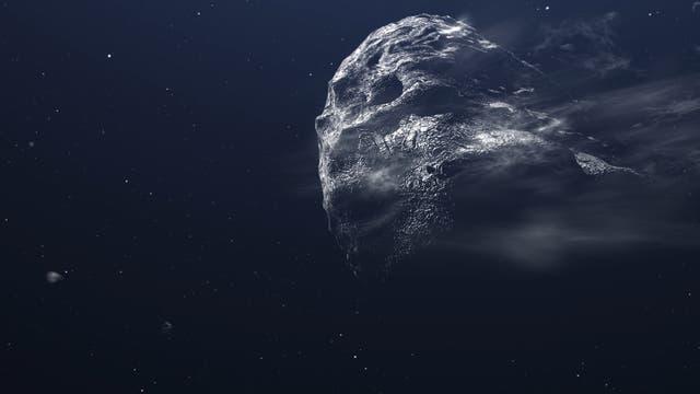 Komet im All