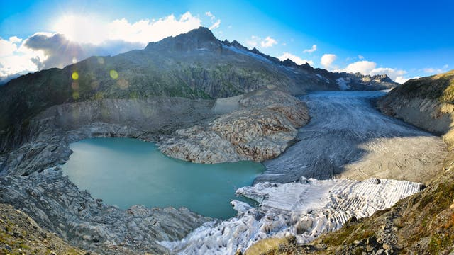 Der Große Rohnegletscher im Schweizer Kanton Valais