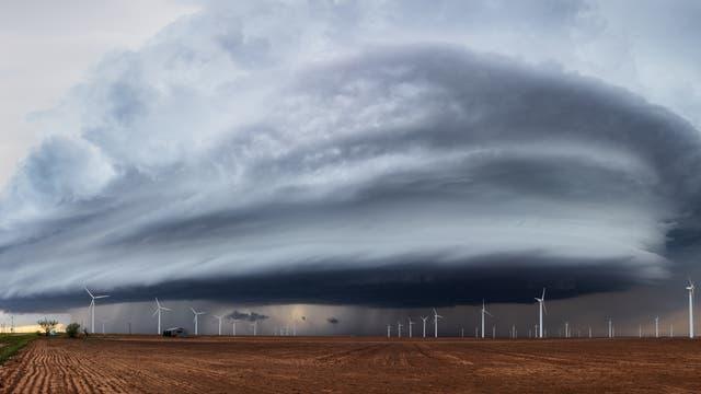 Superzelle eines Gewitters
