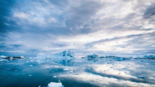 Eis in der Arktis.