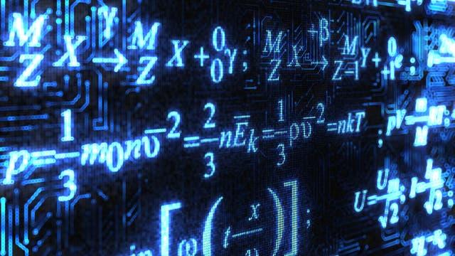 Eine Sammlung verschiedener mathematischer und chemischer Formeldarstellungen.