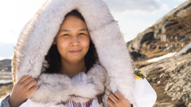Eine Inuk-Frau der Baffininsel