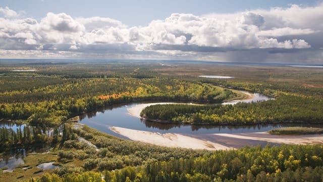 Landschaft im Westen Sibiriens