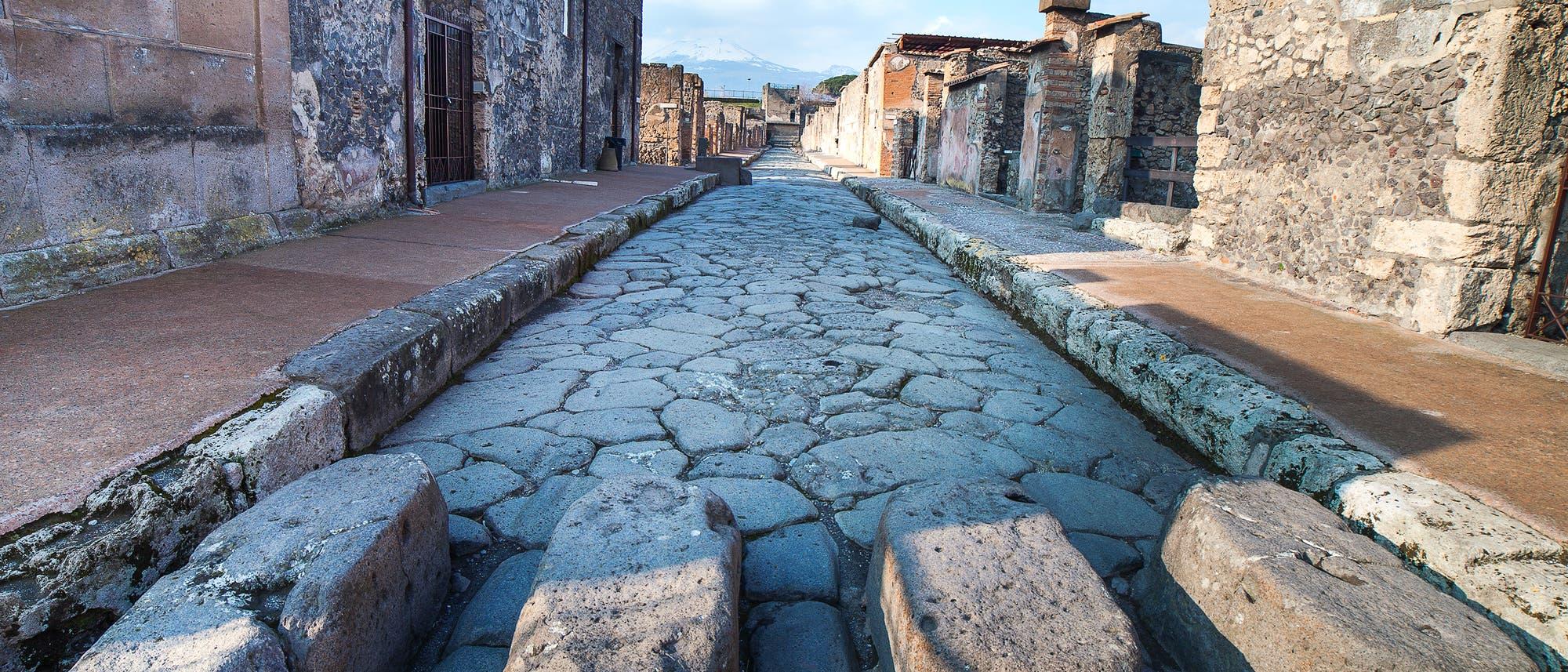 Straße in Pompeii