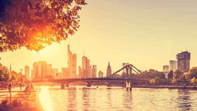 Heißer Tag in Frankfurt am Main