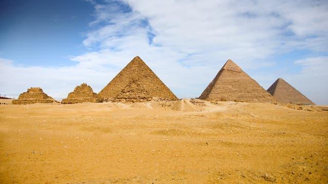 Die Pyramiden auf dem Gise-Plateau