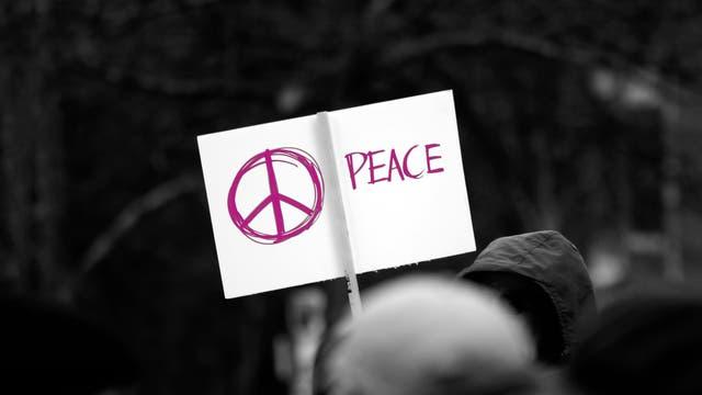 Schild: Peace