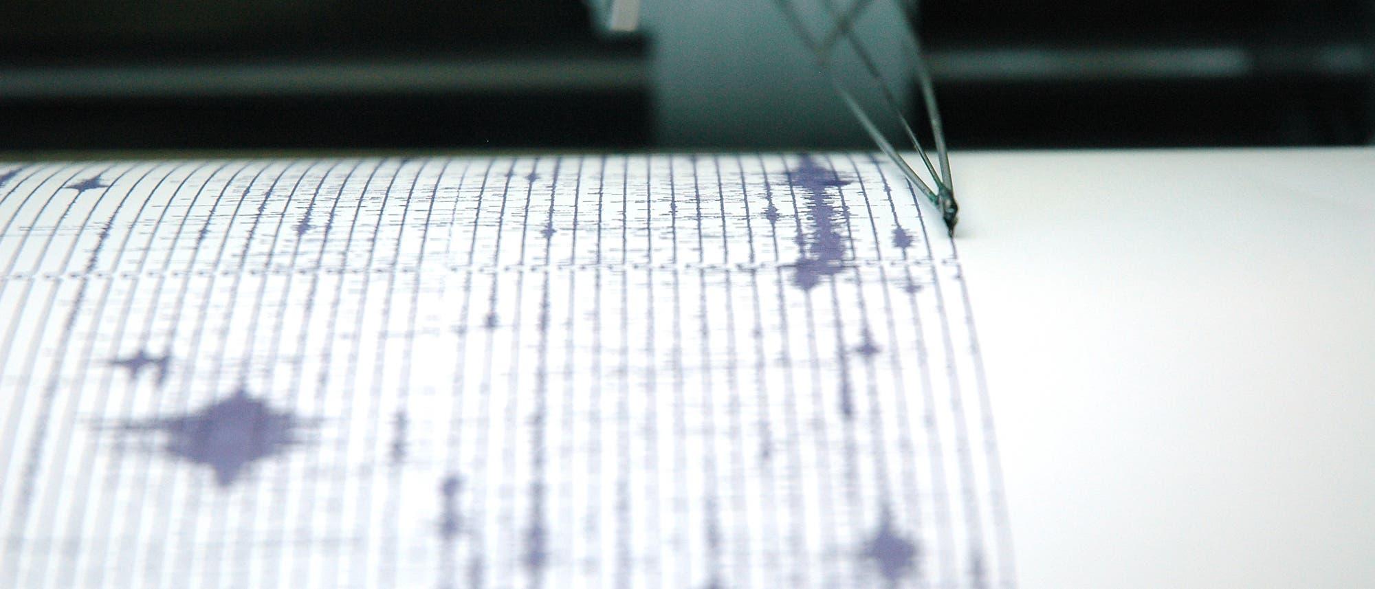 Nahaufnahme eines Seismografen.