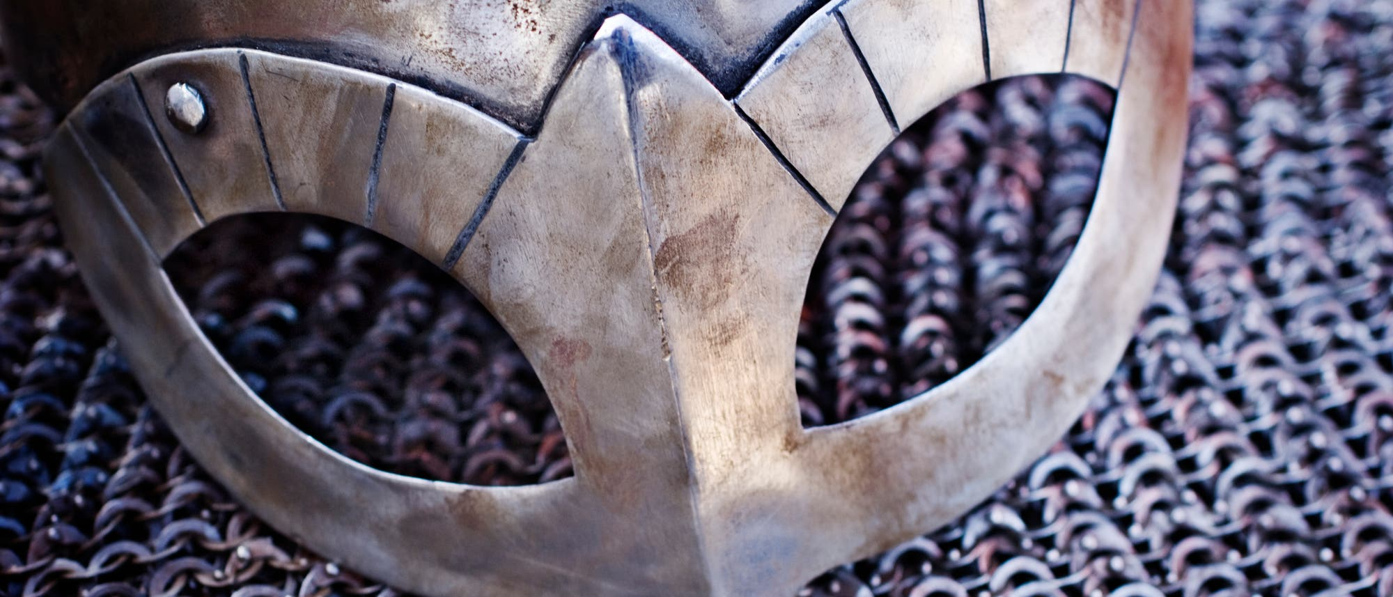 Nachbau eines Wikingerhelms
