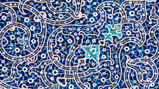 Fliesen in der Isfahan-Moschee
