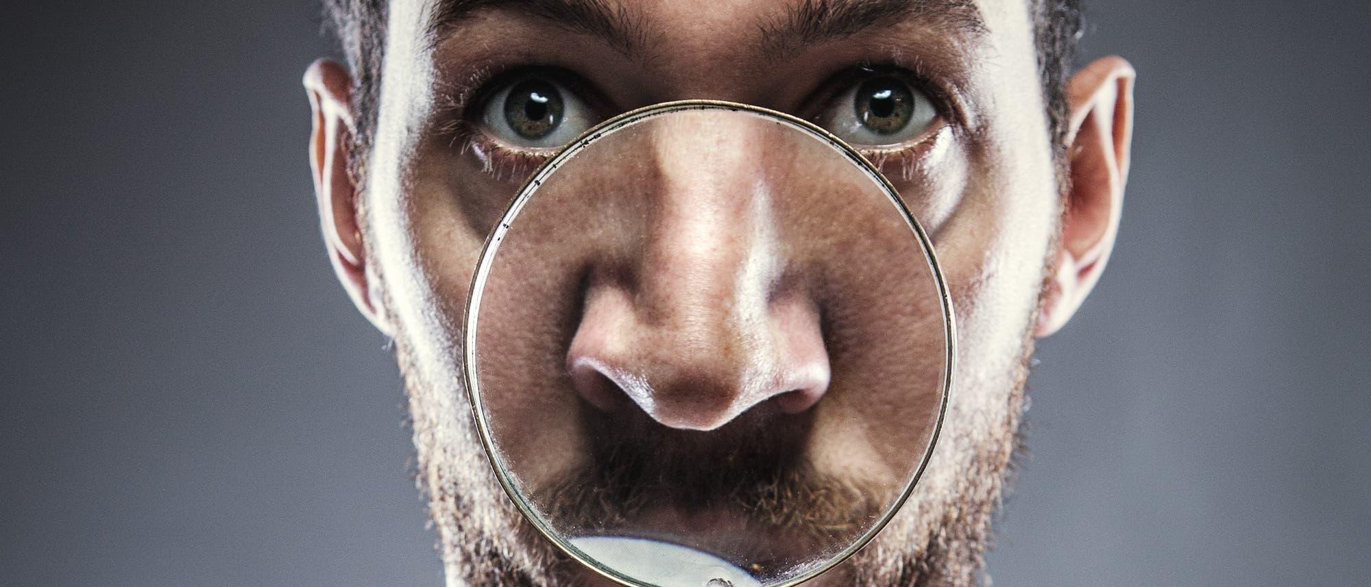 Vergrößerte Nase