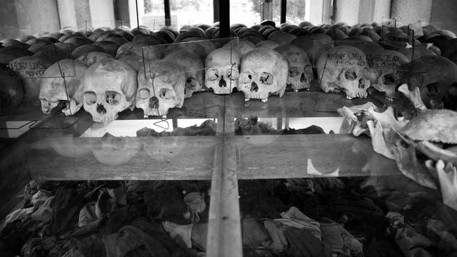 Opfer der Roten Khmer in Kambodscha