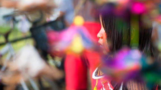 Angehörige vom Stamm der Kayapó