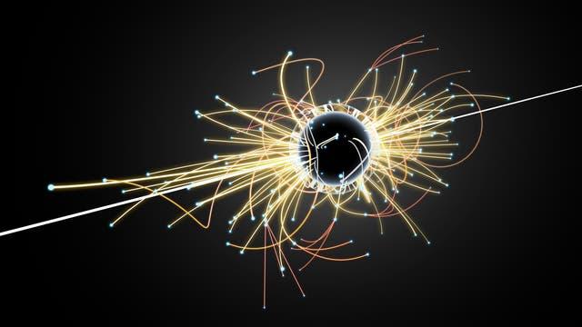 Kollision von Teilchen im Beschleuniger