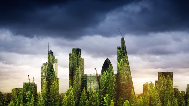 Begrünte Londoner Wolkenkratzer